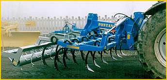Cultivators with squared springs