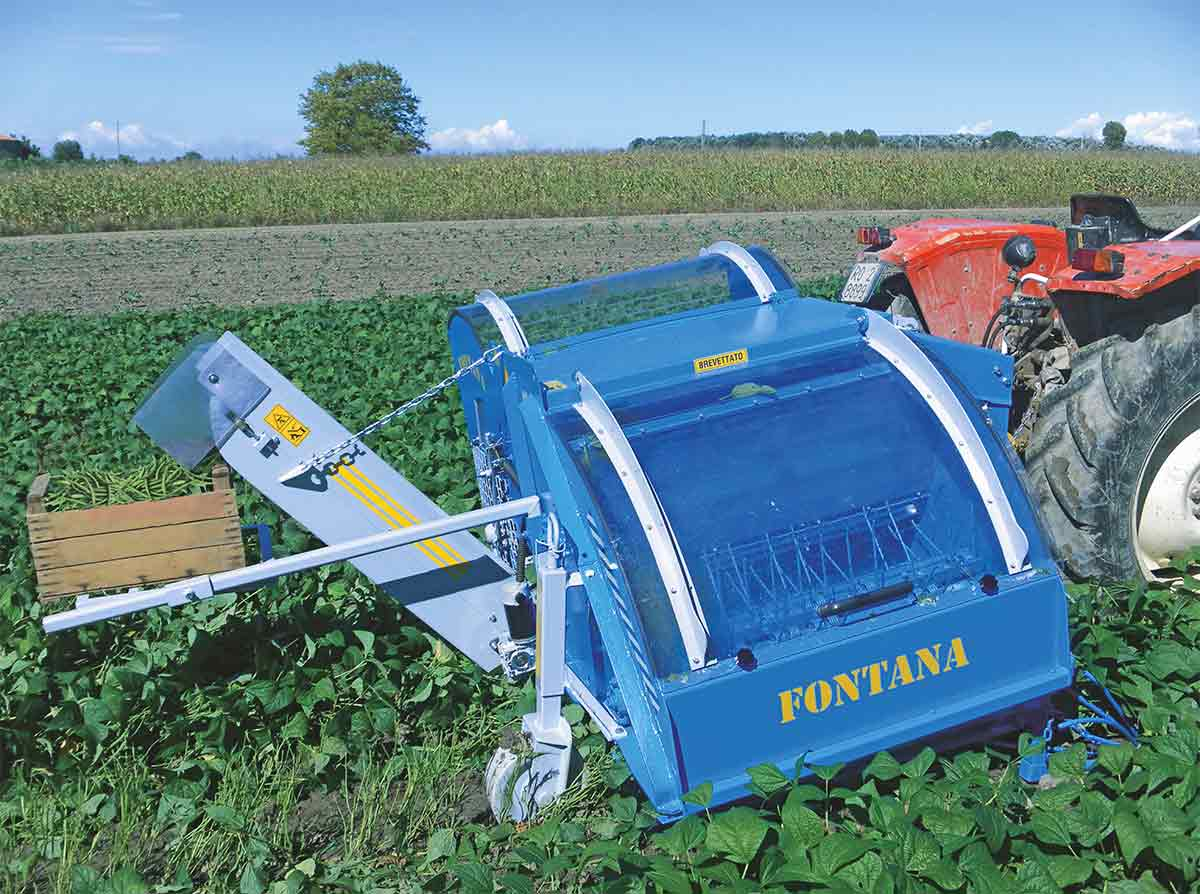 Fontana - mounted small harvester for beans