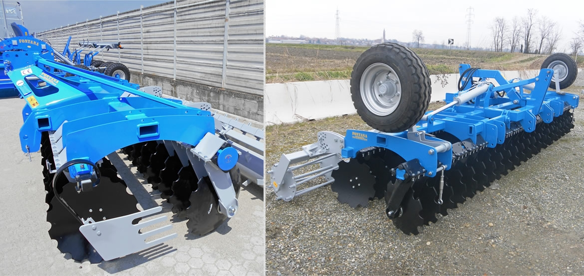 MOUNTED and COMPACTED DISK HARROW SERIES SPRING with rubber shock absorbers